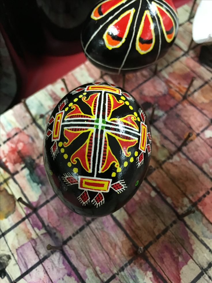 One of the ladies at work puts on Pysanka workshops. This is a sample of her work. Gorgeous!
