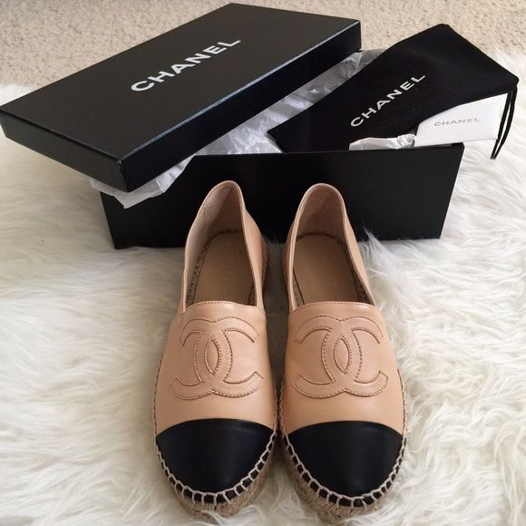 Chanel Espadrilles 2016 Cruise Beige/Black, size 5 Chanel Espadrilles 2016 Cruise in Beige/Black lambskin. CC Cruise 16 Collection. Size 5 (USA)—Size 35 (Euro). These are all sold out in store. Runs small! Shoes are brand new in box, and have never been worn. Comes with everything pictured.NO TRADES, DO NOT BOTHER ASKING!!! CHANEL Shoes Espadrilles