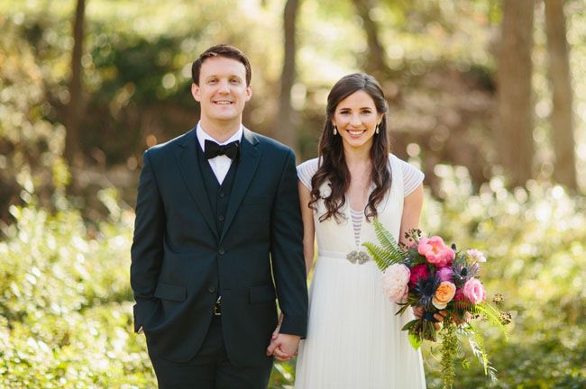 emily + eric | Ortensia Gown from BHLDN | via: green wedding shoes | #BHLDNbride