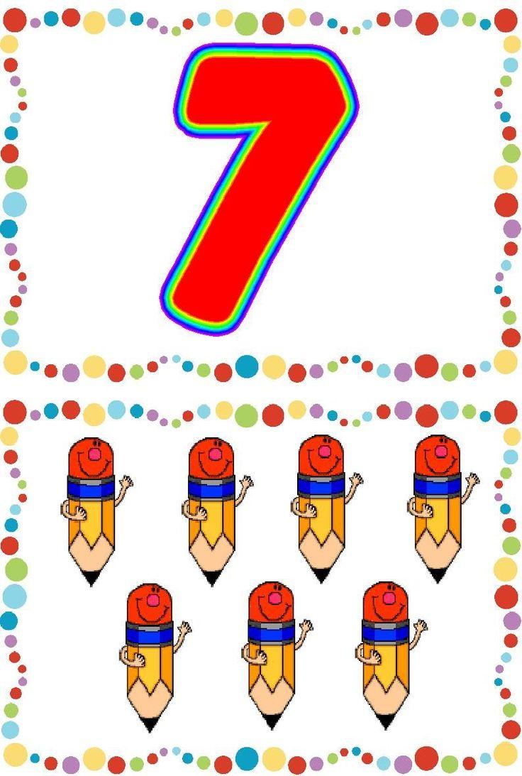 * Vrolijke cijferkaarten! 7-10