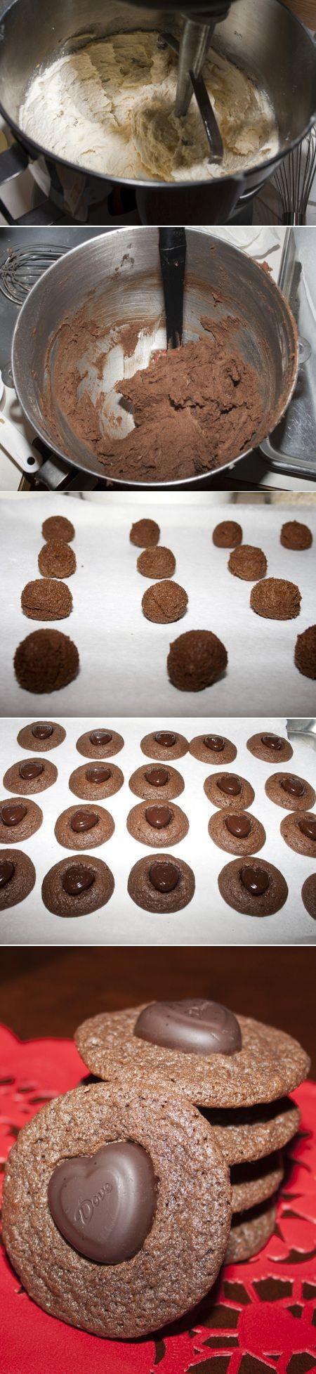 Dark Chocolate Chocolate Cookies