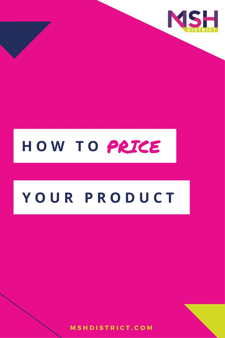 How to Price Your Product — MSH District | Fashion Startup Fund. We know that pricing your product is critical to your success, its the difference between success & failure. We've designed a pricing toolkit that covers everything you need to know and how to get it done.