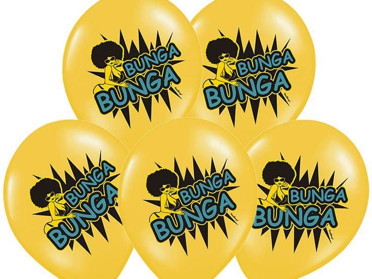 Balon na wieczór panieński z dwustronnym nadrukiem Bunga Bunga.