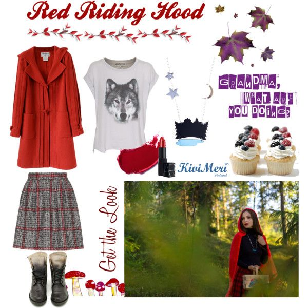 """""""Red Riding Hood: get the look"""" by kivimeri on Polyvore"""