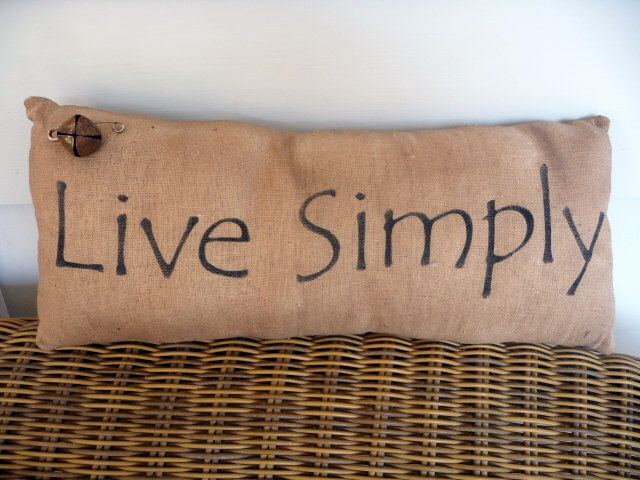 Primitive pillow live simply by ahlcoopedup on Etsy https://www.etsy.com/listing/97224698/primitive-pillow-live-simply
