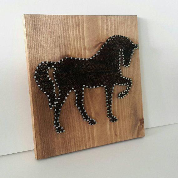 Cadena arte caballo regalo único para la por CarolinaStrings