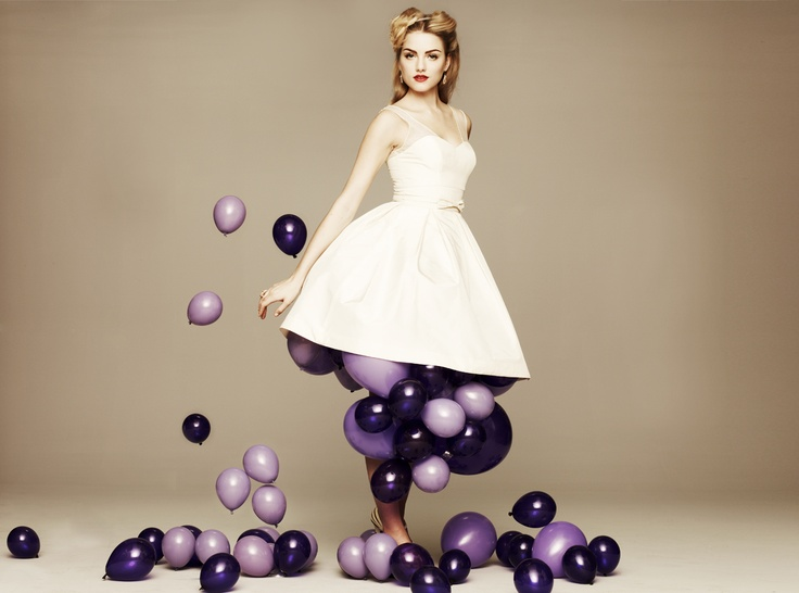 Saturnalia Dress #bhldn #dress #balloons #wedding #party #white #bow: Picture, Engagement Parties, Photo Ideas, Color, Bhldn, Wedding Dresses, Weddings, Air, Purple Balloons