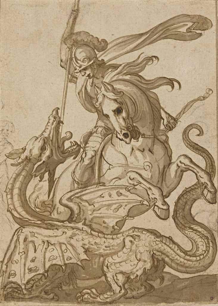 Antonio Tampesta (1555-1630). Saint George and the Dragon