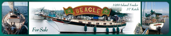 """Island Trader Ketch - 37'. This one is the """"Beagle"""""""