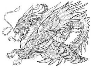 98 best dragons images on Pinterest  Mandalas Adult coloring