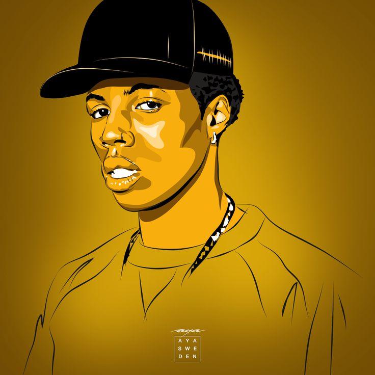Rapper Roy Woods #hiphop #rapper #artwork #ayasweden #portrait #vector