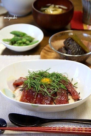 まぐろの梅風味づけ巣ごもり丼。 by miyukiさん   レシピブログ - 料理 ...