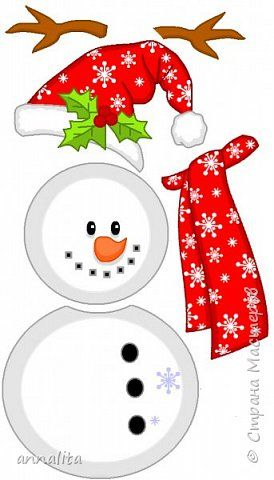"""В ожидании НГ мы с дочкой много-чего делали. В нашем календаре ожидания был День снеговика (http://stranamasterov.ru/node/995807). И именно для этого дня я сделала две игры про снеговиков. Одной из них является игра """"Собери снеговика"""". Правила игры: Игра рассчитана на 4 человека. У каждого игрока должен быть свой набор снеговика (тело, голова, шапка, руки, шарф — 6 частей, 6 граней кубика). Игрок бросает кубик, ему выпадает определенная часть тела снеговика. Кубик бросается до тех пор…"""