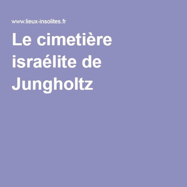 Le cimetière israélite de Jungholtz