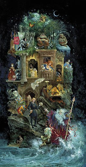 Shakespearean Fantasy. This one I do have in poster form.  One Day Canvas on Giclee.