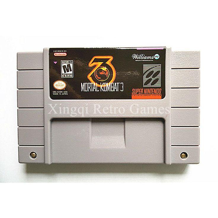 Super Nintendo Game Ultimate Mortal Kombat 3 Video Game Cartridge US English Version