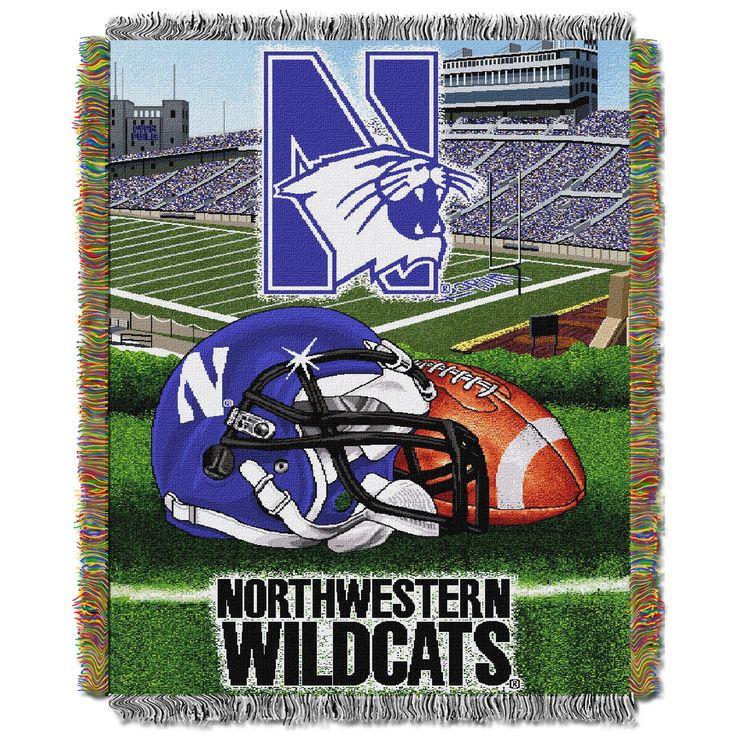 "Northwestern College """"Home Field Advantage"""" 48x60 Tapestry Throw"