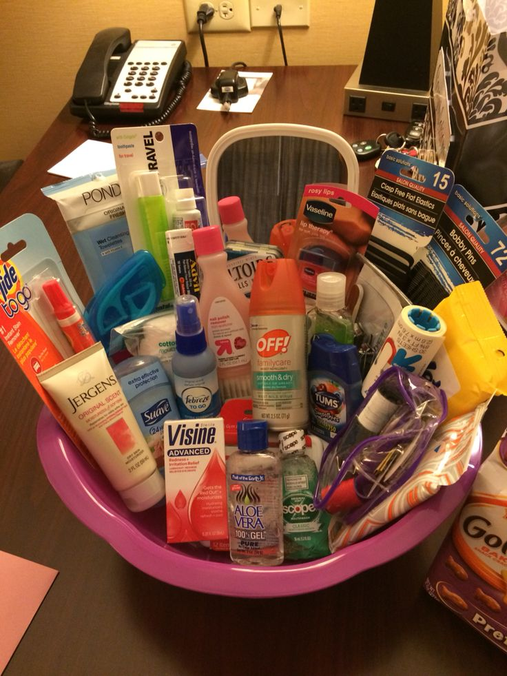 Wedding Day Emergency Kit! The Bride loved it!! Also, it's a great idea for the bride to take any items that wasn't used on the wedding day to her honeymoon!