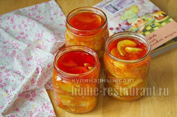 Салат из кабачков на зиму с томатной пастой и чесноком_06