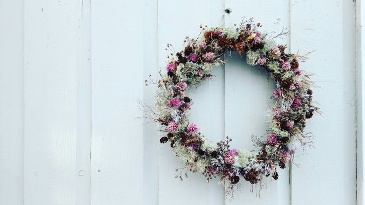Northern Pink Wreath #craftyfeelings #wreath #narjess