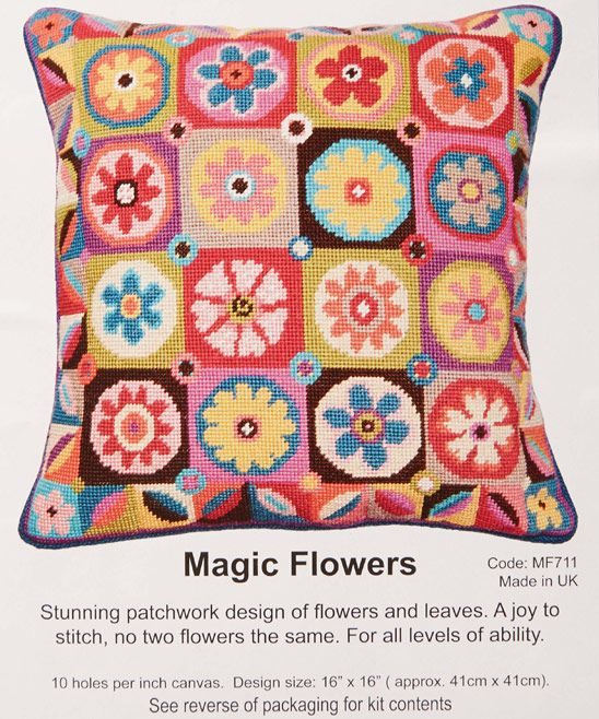 Jolly Red Magic Flowers Tapestry Kit