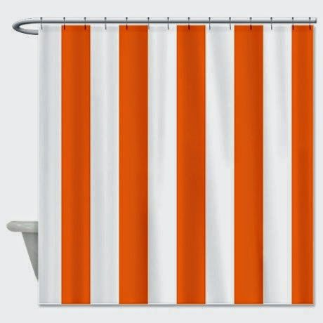 Curtain Ideas  Solid orange shower curtain liner49 best Bathroom curtains images on Pinterest   Curtain ideas  . Orange Shower Curtain Liner. Home Design Ideas