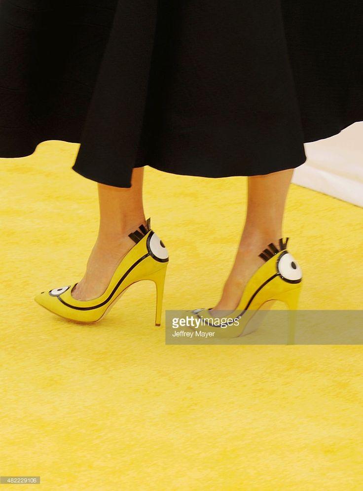 Photo d'actualité : Actress Sandra Bullock, shoe detail, at the...