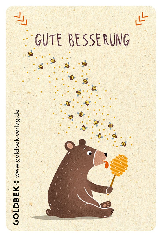 Postkarten - Gute Besserung. Liebvoll handgezeichnete Illustration ... I lke :D