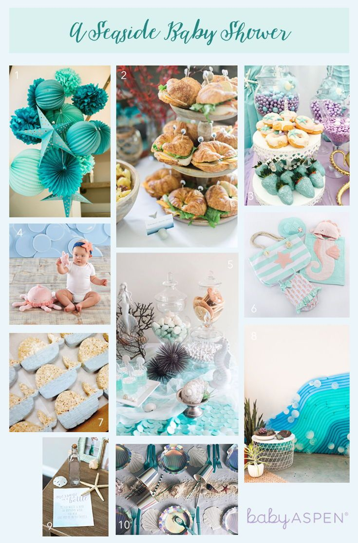 A Seaside Baby Shower With Images Beach Baby Shower Theme