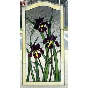 Iris Stained Glass | Three iris glass pattern by Judy Miller for sale by Nickates