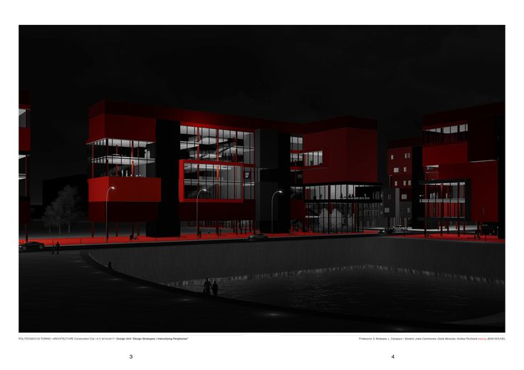 Politecnico di Torino - Architecture and construction systems | Professors: Luca Caneparo, Subhash Mukerjee | Project: Via Plava (TO) ; Render post-production by Giulia Monardo Playing Jean Nouvel