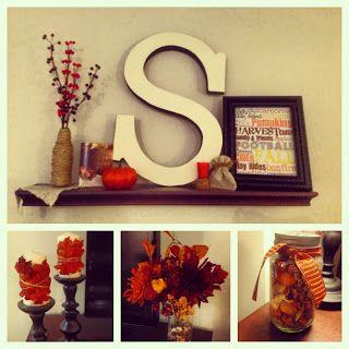 Fall mantel & living room decor #SteadfastStowell