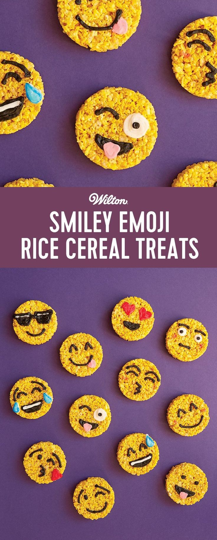 Learn how to make these cute Smiley Emoji Rice Cereal Treats from the book Treat Yourself by Jessica Siskin, a.k.a. Mister Krisp! Your little ones will enjoy making and eating them!