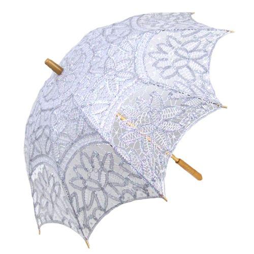Silver Lace Parasol / Bella Umbrella