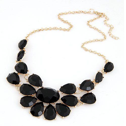 tốt đồ trang sức phụ nữ tiệc phụ kiện nhiều màu sắc acrylic đá quý choker vòng cổ mặt dây chuyền nữ trang tuyên bố vòng cổ yếm có dây đeo phụ nữ ls53