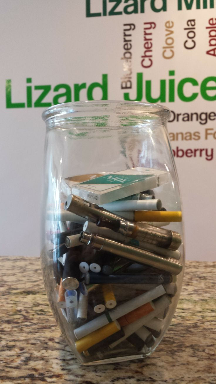 At LJ, have something called the jar o' shame where we deposit disposable e-cigs our customers bring in. Then we give them the good stuff...Bring your old disappointing disposable e-cig in to us today, and we will set you up with the good stuff.