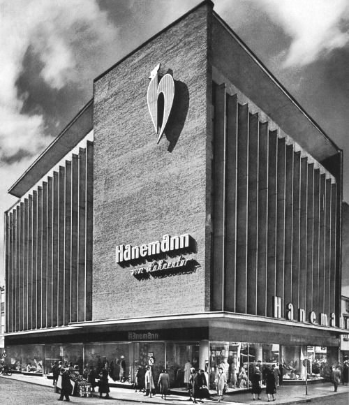 Department Store Hanemann (ca. 1955) in Cologne, Germany, by Theodor Kelter
