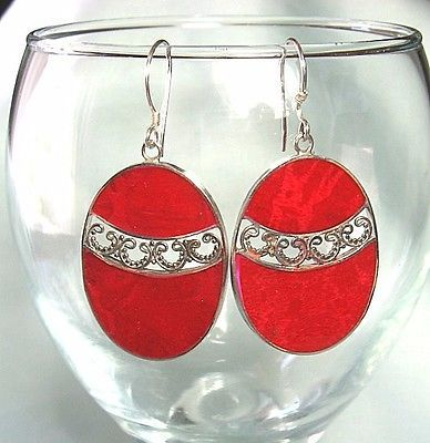 Test-Silver-Red-Sponge-Coral-Earrings-5-0-grams-1-7-8-long