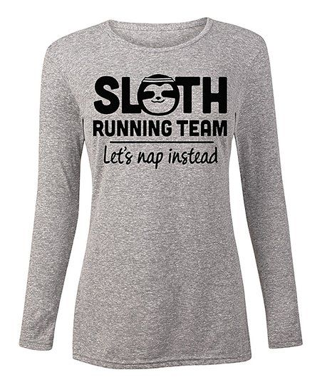 LC Trendz Womens Athletic Heather Sloth Running Team Long-Sleeve Tee   zulily