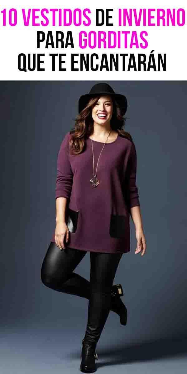10 vestidos de invierno para gorditas que te encantarán