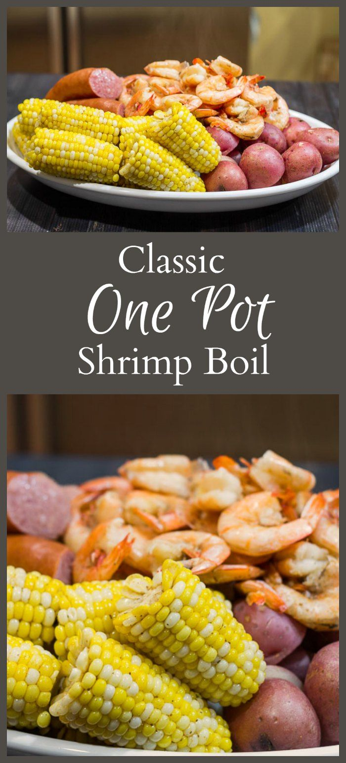 I can't believe how easy and tasty this one pot shrimp boil recipe is to make. #seafoodboil #onepot #beachfood