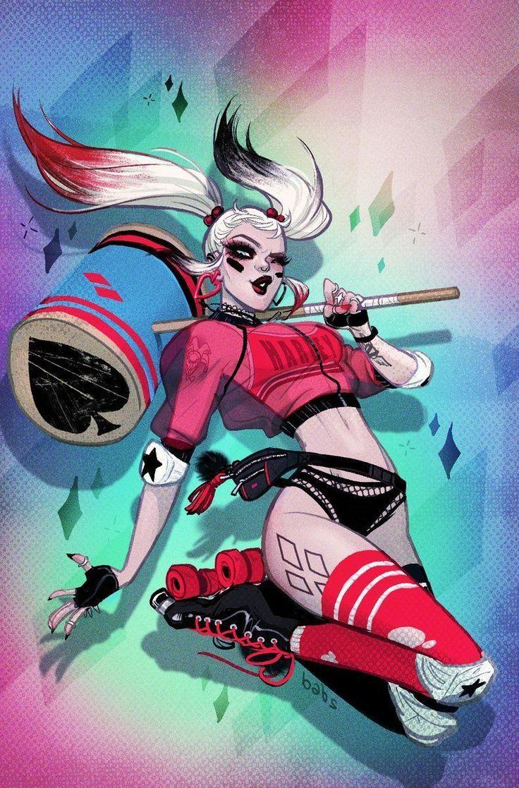 Harley Quinn - Art Illustration By #BabsTarr Fried Pie #HarleyQuinn #DcComics #DcVillian #DC #Gotham #GothamGirls