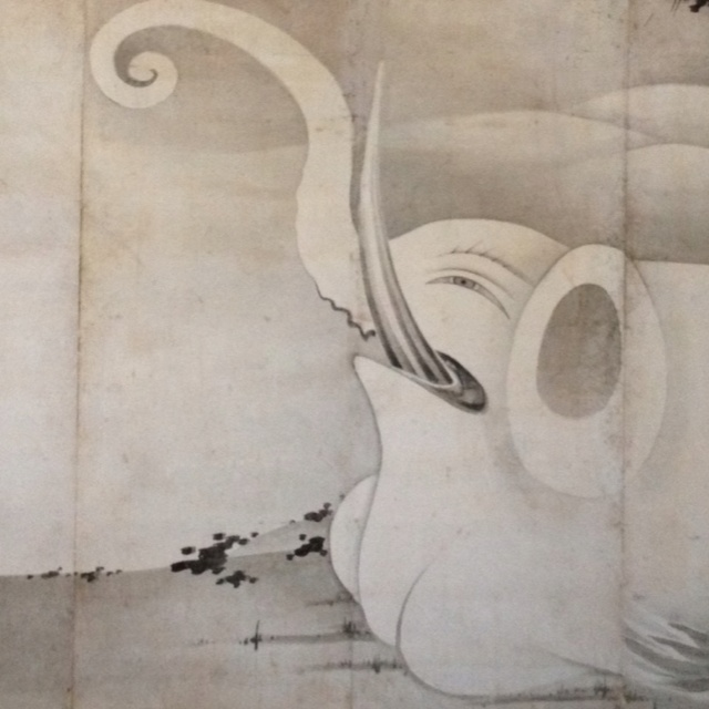Itō Jakuchū, Elephant and Whale, 1795