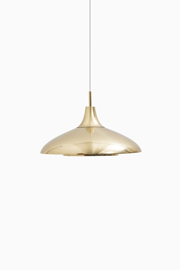 Mid century ceiling lamp in brass at Studio Schalling #retro #midcentury
