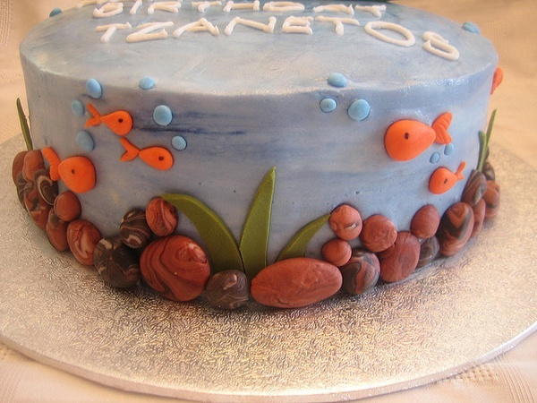Fishing Birthday Cake by Linzis Cakes cakes