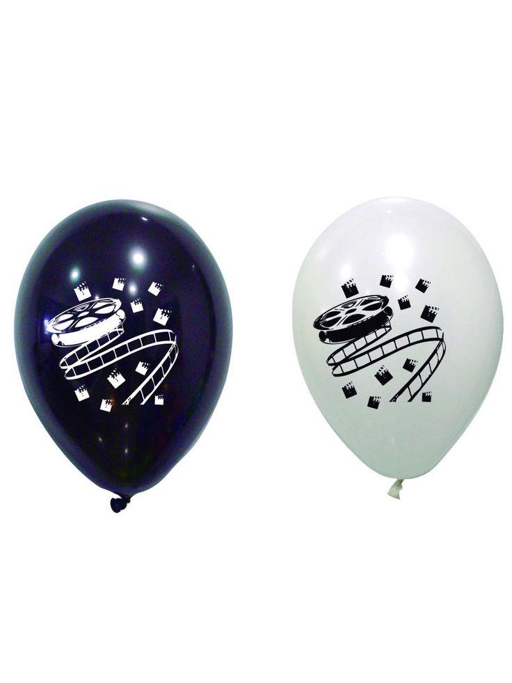 8 palloncini in lattice bianchi e neri a tema Cinema su VegaooParty, negozio di articoli per feste. Scopri il maggior catalogo di addobbi e decorazioni per feste del web,  sempre al miglior prezzo!