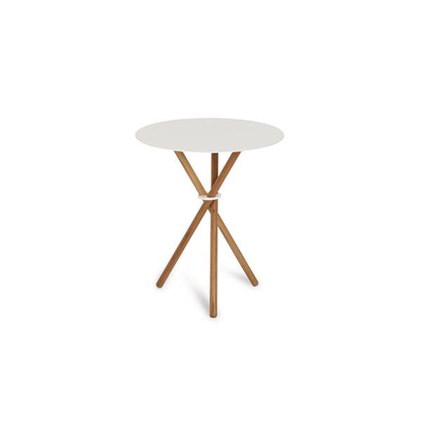EH 10 - Side Table.  Steel table top, oiled oak legs and steel ring. #table #sidetable #steel #steeltable #oak #oaklegs #danishdesign #eberhartfurniture