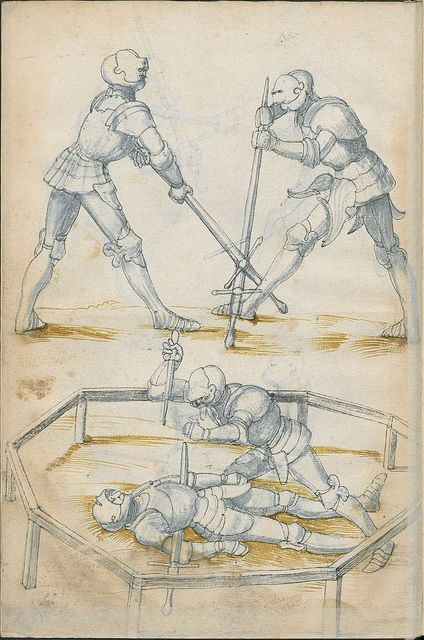 German combat manual, 16th century. Not one I'm familiar with, images only.