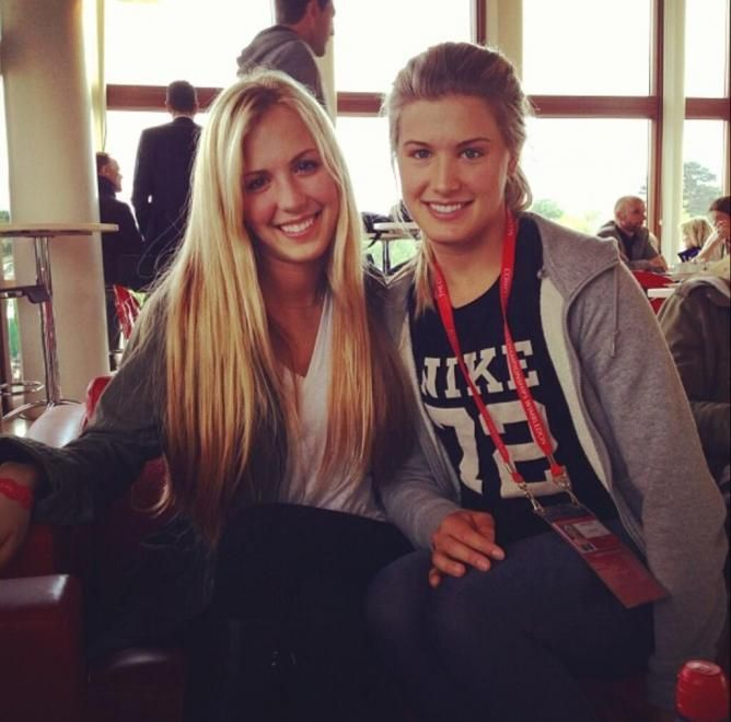 Bouchard twin sisters Genie and Beatrice (TennisWorld USA)