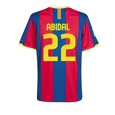 Tienda de 10-11 Barcelona #22 Abidal Camiseta De Fútbol Local gdu-Personalizar Botas de Futbol
